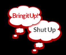 4 ups  bring it up shut it